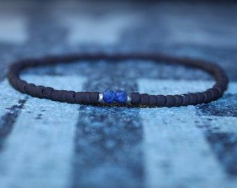 Men's bracelet with Lapis Lazuli