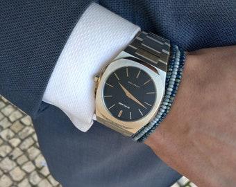 Mens Thin Bracelet Men Seed Bead Bracelet Men Slim Bracelet Simple Husband Bracelet Gift Set Stretch Bracelet Gift Idea Bracelet set for men
