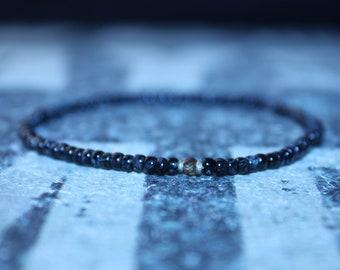 Sapphire Bead - Seed Bead Bracelet - Men's Bead Bracelets, Mens gift for him Husband Gift , Saint Valentine Gift Men, San Valentin Gift Men