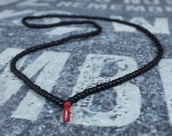 Surfer Necklace, Mens Beaded Necklace, Mens Necklace, Mens Jewelry, Metal Free, No Clasp, Beaded Necklace for Men - 26 inch necklace
