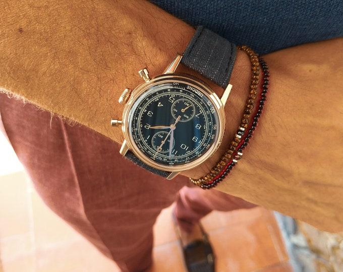 Featured listing image: Black Spinel Bracelet, Garnet Bracelet, Birthday Gift, Mens Gift, Mens Bracelet, Minimalist Bracelet, Mens beaded bracelet, Bracelet Set
