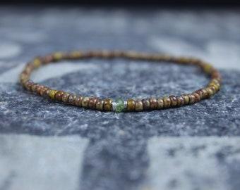 Peridot Bracelet, Bracelet Men, Mens bracelet, Mens Gifts, Birthday Gift for Men, Gemstone Bracelet, Birthstone bracelet, Bracelet Men