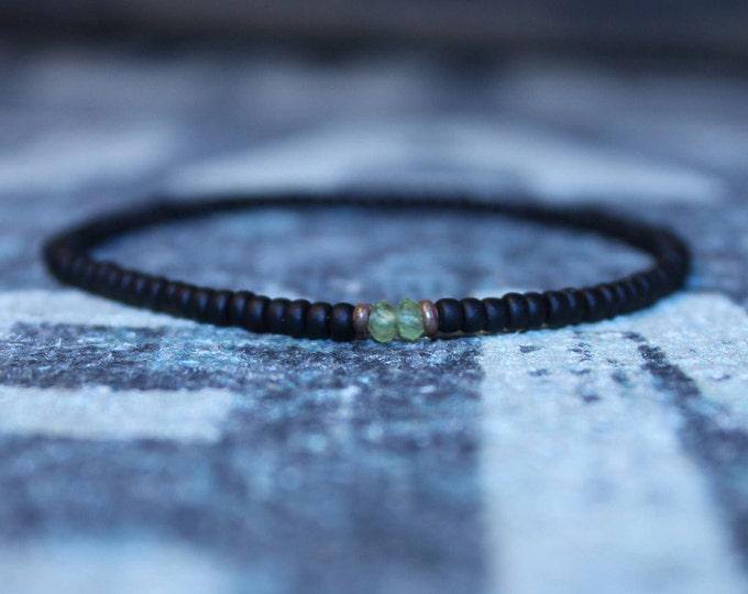 Featured listing image: Peridot Bracelet, Bracelet Men, Mens bracelet, Mens Gifts, Birthday Gift for Men, Gemstone Bracelet, Birthstone bracelet, Bracelet Men