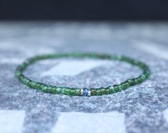 London Blue Topaz Bracelet, Birthday Gift, Mens Birthstone, Mens Gift, Mens Bracelet, Minimalist Bracelet, Beaded Bracelet