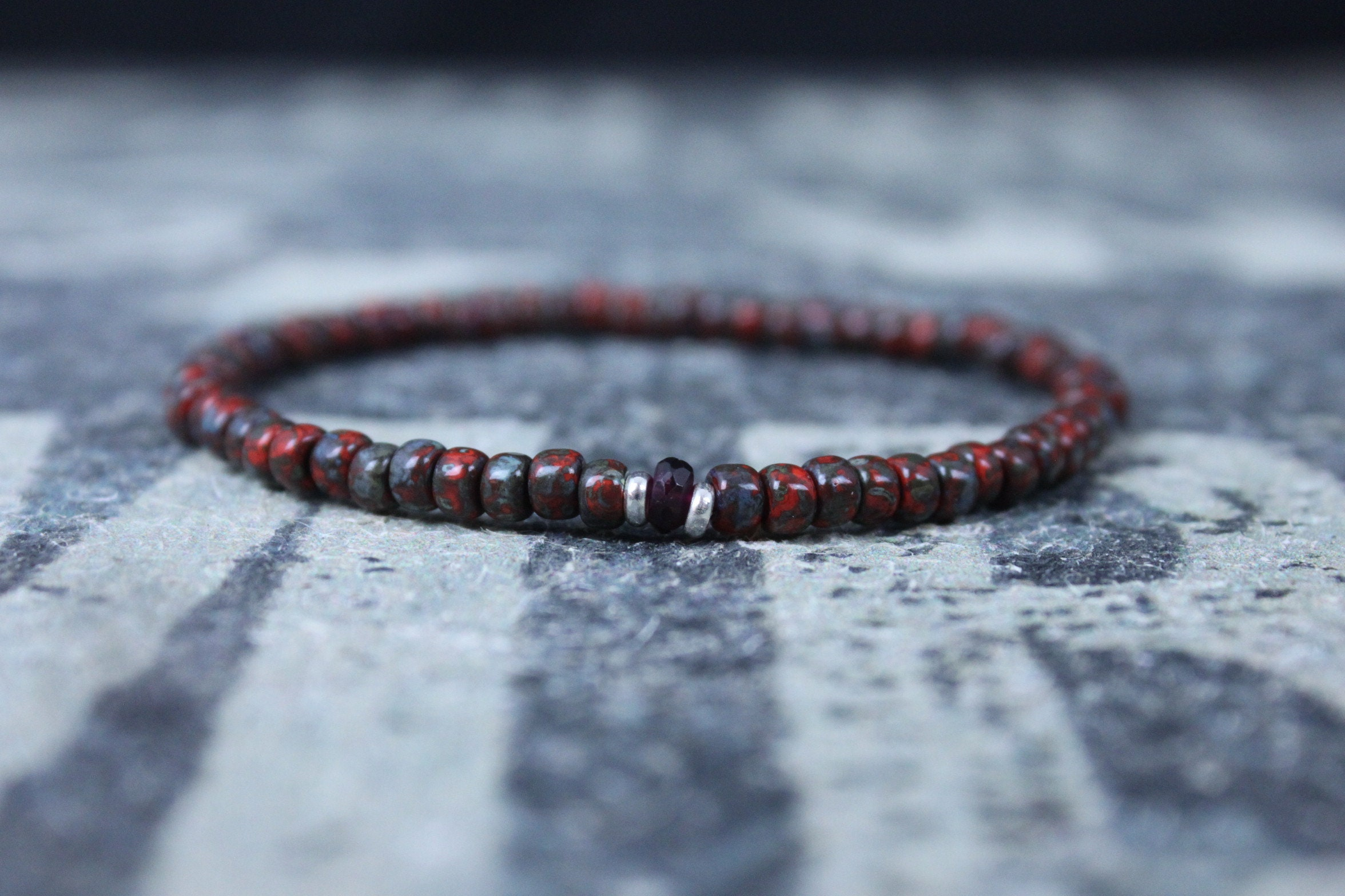 Garnet Bracelet Men Mens Jewelry Minimalist Gifts For