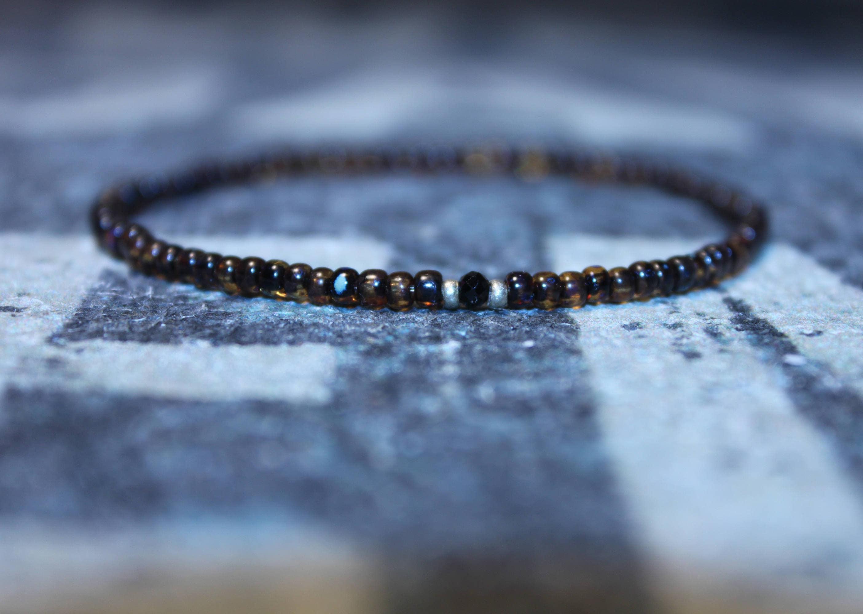 Mens Bracelet Gift Black Spinel Men