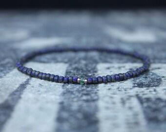 Emerald Bracelet, Mens Bracelet, Mens Gift, Anniversary Gift, 24k Rose Gold Vermeil spacers, Bracelet, Birthstone Bracelet, Couples Bracelet