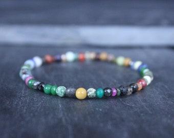 Chakra Bracelet, Mens Bracelet, Mens Gift, Anniversary Gift, Men Birthstone, Gemstone Bracelet, Birthstone Bracelet, Couples Bracelet