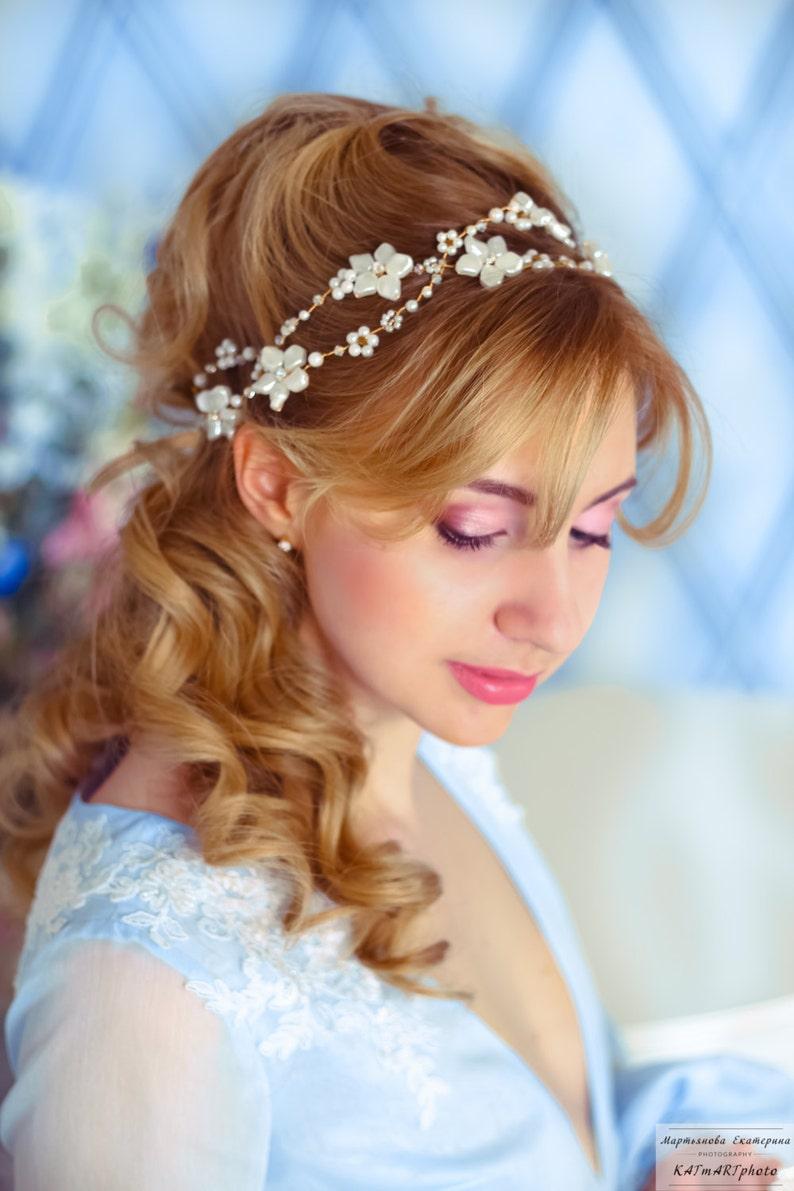 Wedding Hairvine Headpiece Bridal Crystal Hair Adornment  5b37a8c46a4e