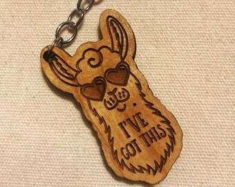 "Llama ""I've Got This"" Keychain"