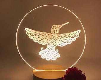 Hummingbird Nightlight LED Lamp