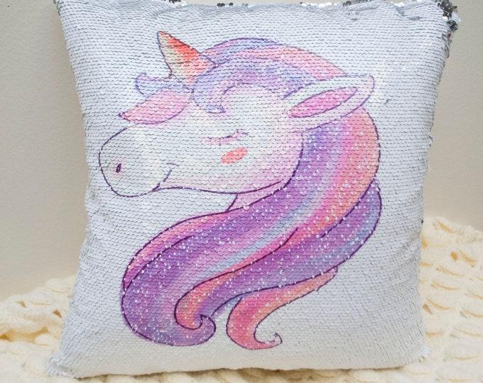 Mystical Unicorn Two-Tone Magic Sequin Pillowcase