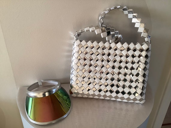 Silver & White Modern Weave