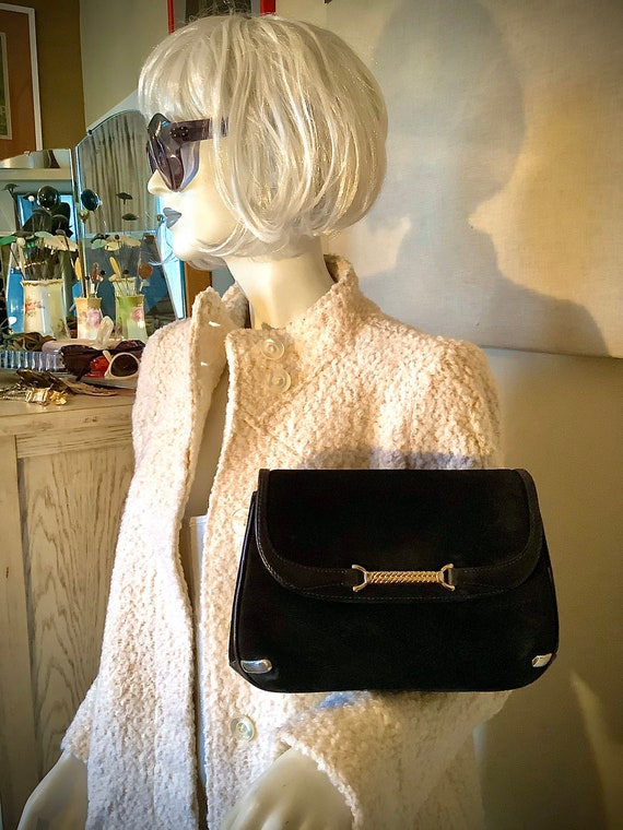 Gucci 1970s Suede Shoulder Bag - image 3