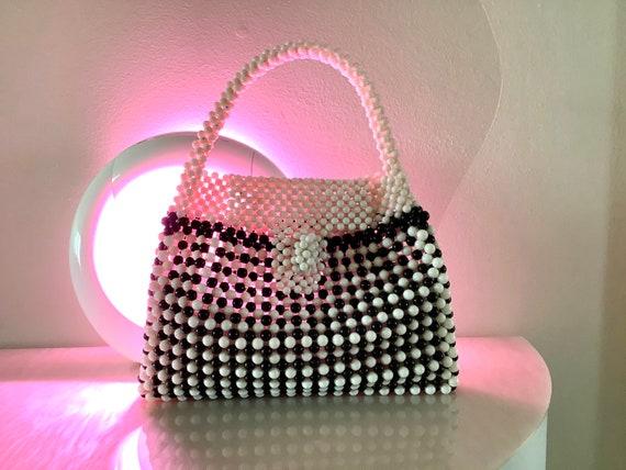 Black & White 1960s Fab Beaded Bag - image 10