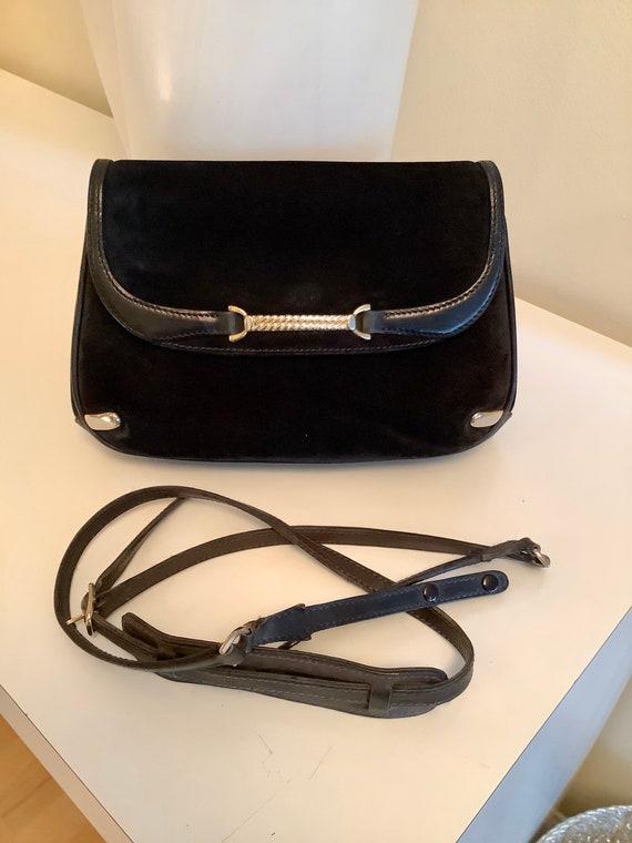 Gucci 1970s Suede Shoulder Bag - image 1