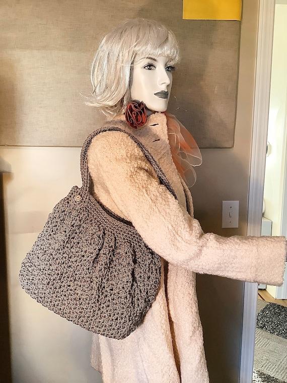 Metallic Crochet Vintage Shoulder Bag