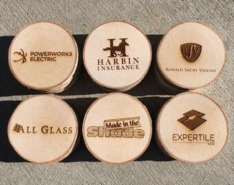 6 Pack Of Wood Slice Coasters
