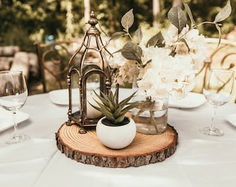 Wedding centerpiece etsy rustic wood slices for wedding centerpieces junglespirit Images