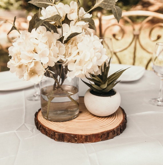 Set Of 10 10 Inch Wood Slices Wedding Table Decor Wood Etsy
