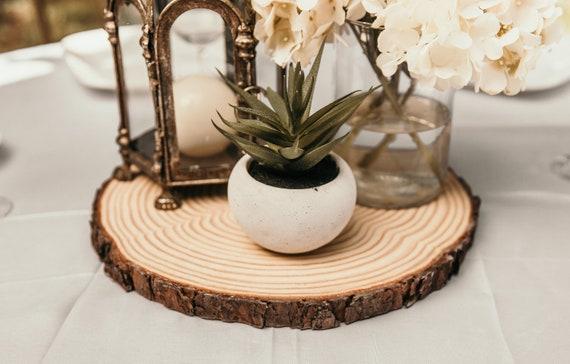 Set Of 15 13 Inch Rustic Wedding Decor Wood Slices Large