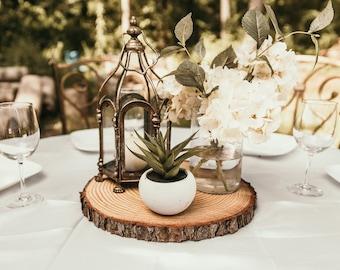 Set of 10 - 12 inch wood slices wedding centerpieces wood centerpieces wood slabs wood log slices centerpiece wood slab rustic wedding decor