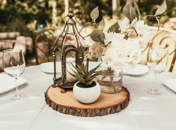 Fully dry wood slices rustic wedding centerpieces rustic   Etsy
