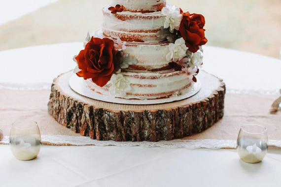slab wedding cake ideas wood slab cake stand wood slice cake stand wood slab etsy 20190