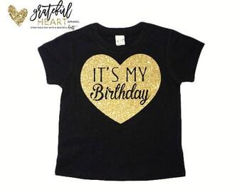 It's my Birthday shirt, Kids birthday shirt, Glitter shirt, Toddler birthday shirt, birthday girl shirt, first birthday shirt, bday shirt