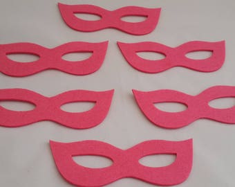 Felt crafts Felt mask Shaped Glasses for craft embellishment perfect shape thick mask glasses ''FELT CRAFTS''