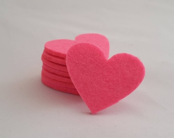 Felt crafts wool felt Felt Heart for craft and embellishment 25 pieces perfect shape thick heart for use any crafting projects pink felt