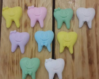 Teeth fairy First tooth party favors soap tooth favors  baby boy baby girl tooth baby gift ideas teeth party favor tooth fairy 20PC