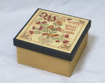 Work With Your Hands   Decorative Paper Mache Gift Box
