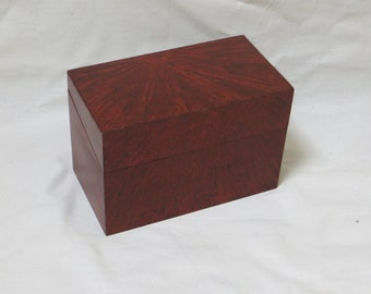 Vinegar Grained Wooden Recipe Box