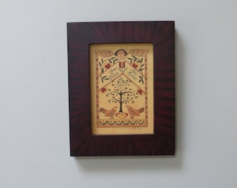 House Blessing in Mahogany Grained Frame