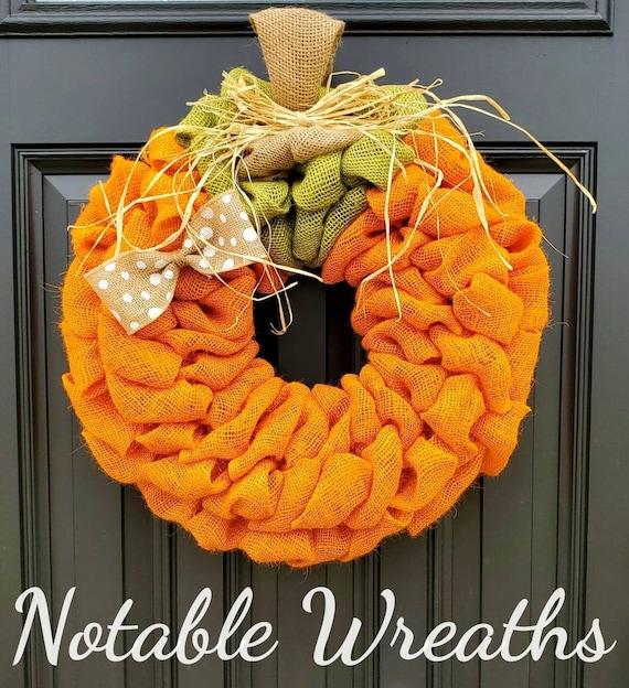 Fall burlap wreath Fall wreath pumpkin decor burlap wreath