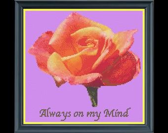'Always On My Mind' Flower Cross-Stitch Chart