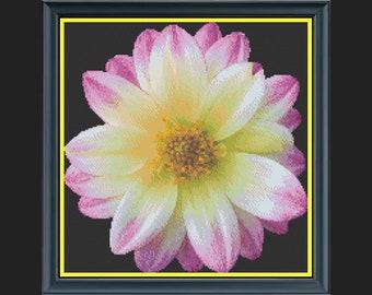 'Life Is Beautiful' Flower Cross-Stitch Chart