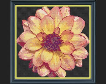 'Everything Is Peachy' Flower Cross-Stitch Chart