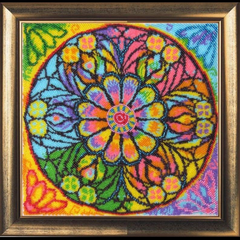 5dd2246d165d39 Mandala szczęścia-haft parapetówkę pomysł na prezent Craft   Etsy