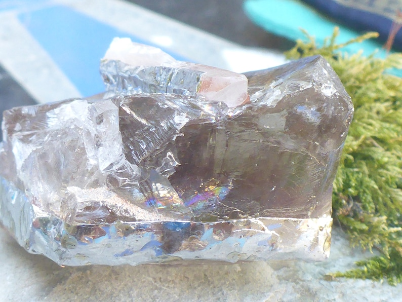 /'Divine Nurture/' Smoky Quartz and Quartz Point Crystal Pendant Shamanic Smoky QuartzShamanic Pendant