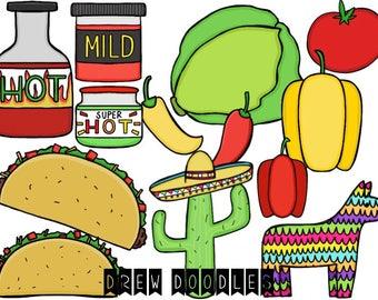 Taco Digital Clip Art Set- Instant Download