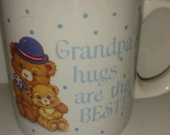 Vintage grandpa bear etsy vintage american greetings carlton cards collectible coffee mug grandpas hugs are best with teddy bear m4hsunfo