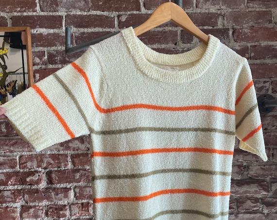 70s Men's Mod Striped Knit Shirt