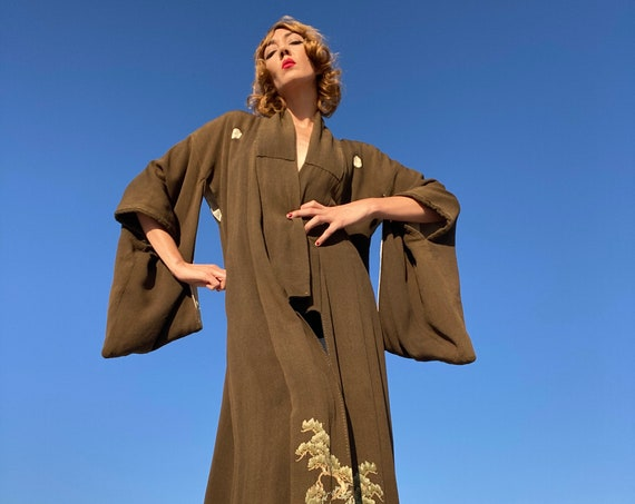 Antique Crepe Kimono