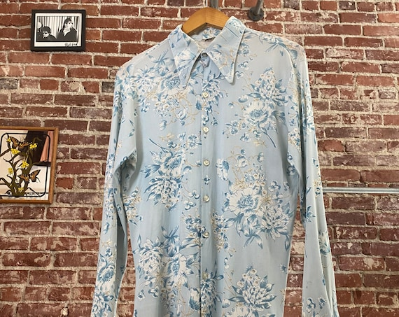 70s Men's Art Nouveau Shirt