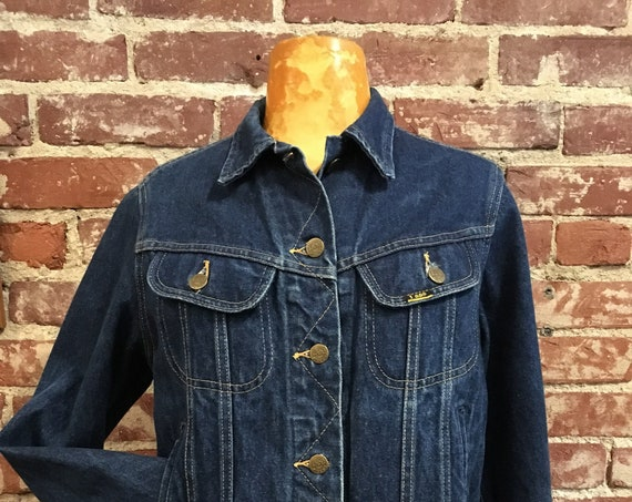 70s Women's Lee Riders 100% Cotton Denim Jacket