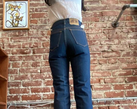 70s High Waist Dead Stock Strait Leg Jeans Size Petite