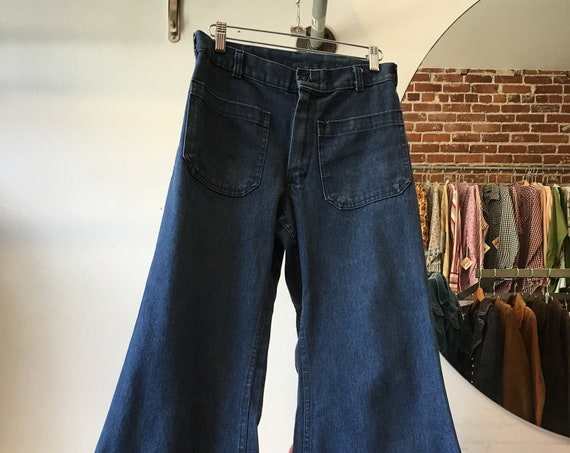 70s Nautical Issue Denim Flares