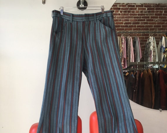70s Men's Mod Striped Pants